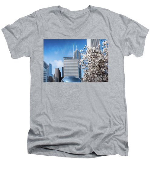 Chicago Bean Millenium Park Men's V-Neck T-Shirt