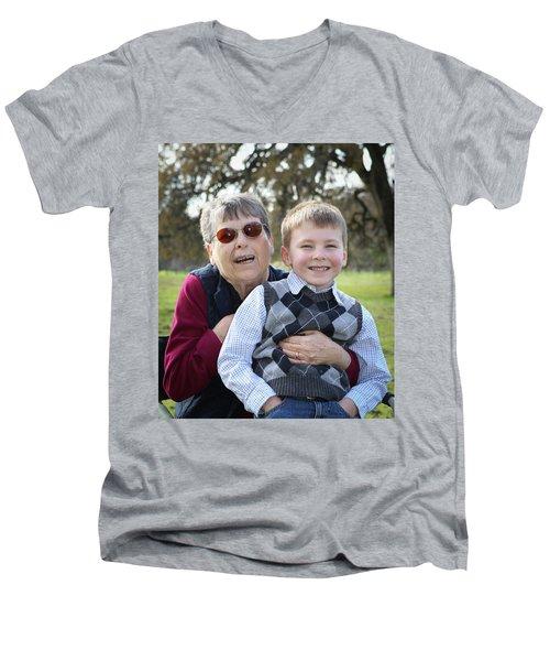 5 Men's V-Neck T-Shirt by Diane Bohna