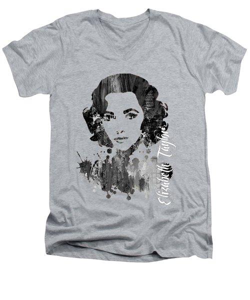 Elizabeth Taylor Collection Men's V-Neck T-Shirt by Marvin Blaine