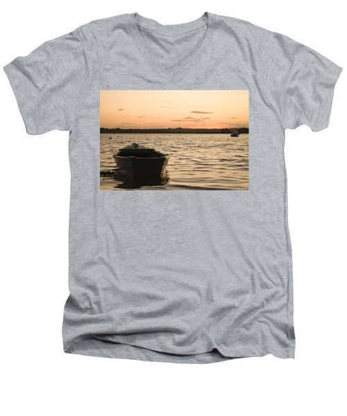 Men's V-Neck T-Shirt featuring the photograph Irish Dawn by Ian Middleton