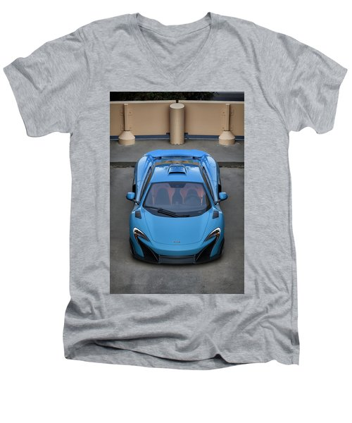 #mclaren #675lt #print Men's V-Neck T-Shirt
