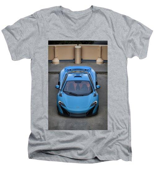 #mclaren #675lt #print Men's V-Neck T-Shirt
