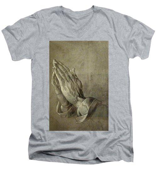 Praying Hands Men's V-Neck T-Shirt