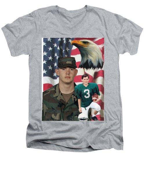 Texas Hero Men's V-Neck T-Shirt