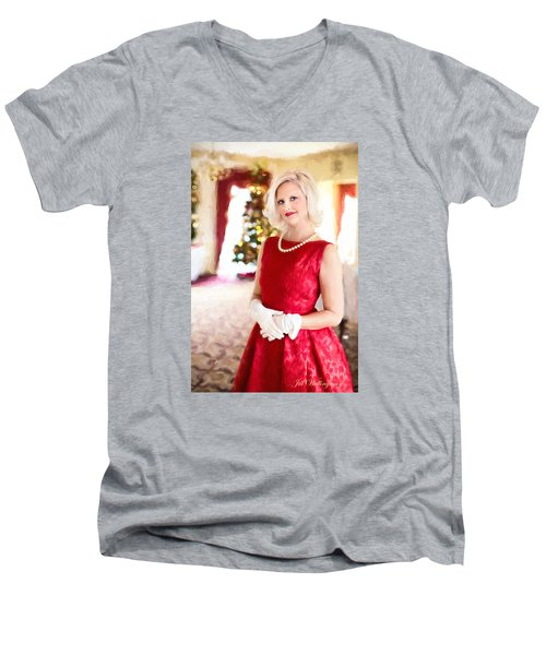 Vintage Val Home For The Holidays Men's V-Neck T-Shirt