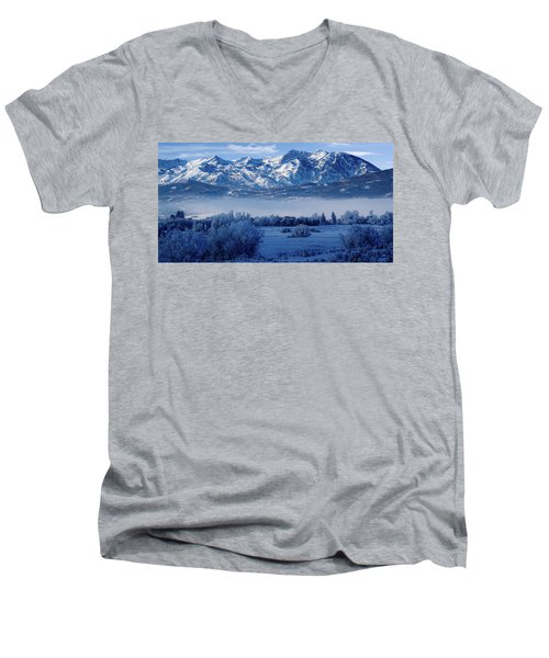 Winter In The Wasatch Mountains Of Northern Utah Men's V-Neck T-Shirt