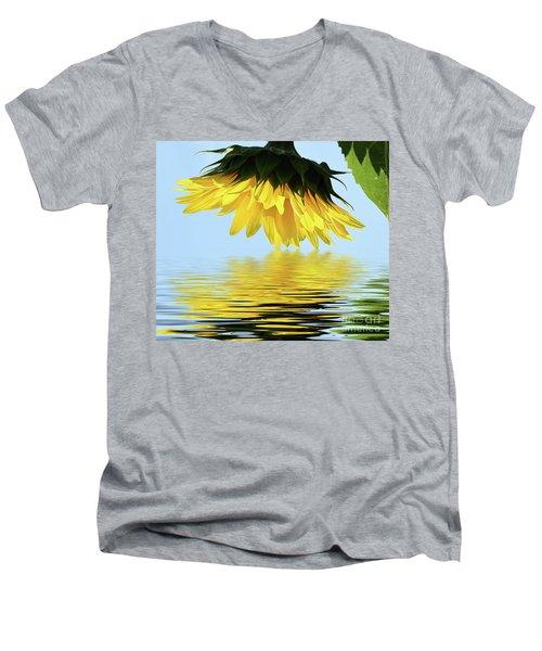 Nice Sunflower Men's V-Neck T-Shirt by Elvira Ladocki