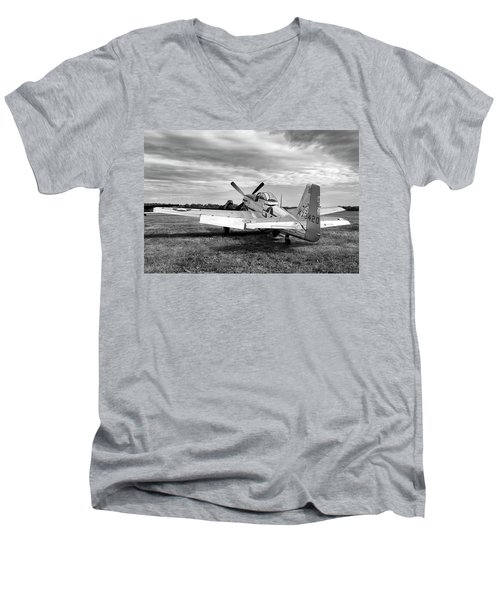 Men's V-Neck T-Shirt featuring the photograph 51 Shades Of Grey by Peter Chilelli