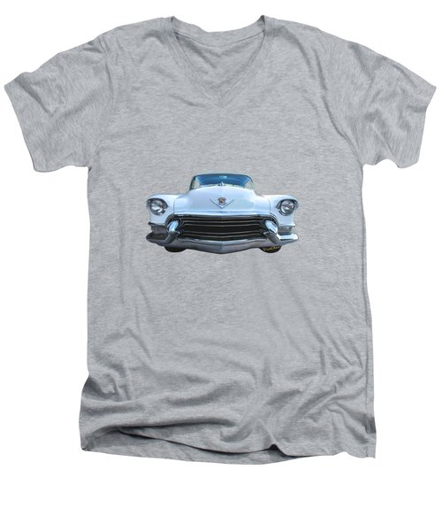 55 Cadillac Down Inna Meadow Up In Kerrville Men's V-Neck T-Shirt