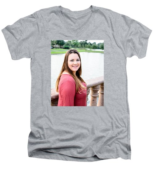 Men's V-Neck T-Shirt featuring the photograph 5611 by Teresa Blanton