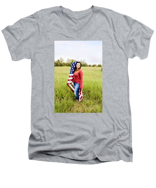 Men's V-Neck T-Shirt featuring the photograph 5623-2 by Teresa Blanton