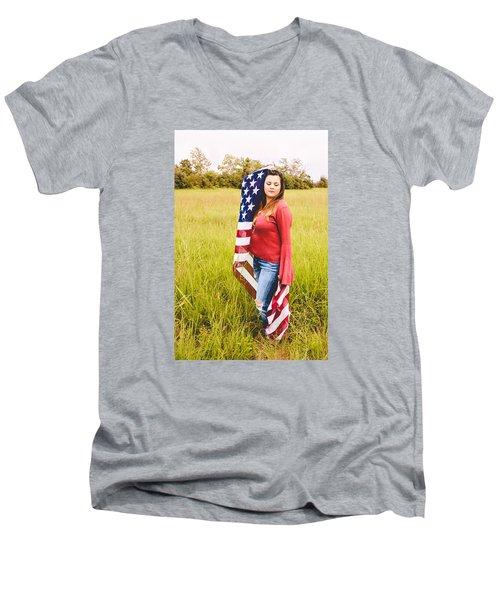 5624-2 Men's V-Neck T-Shirt by Teresa Blanton