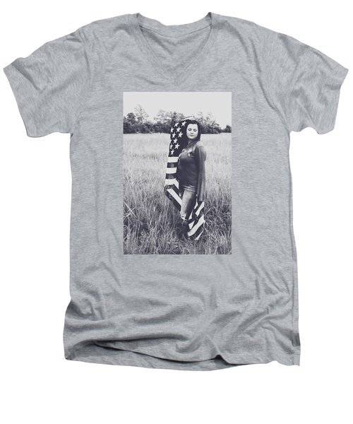 Men's V-Neck T-Shirt featuring the photograph 5624-4 by Teresa Blanton