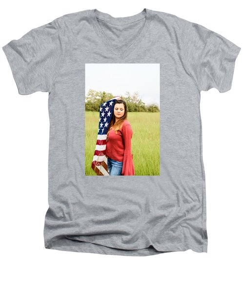 Men's V-Neck T-Shirt featuring the photograph 5626-2 by Teresa Blanton