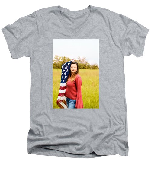 Men's V-Neck T-Shirt featuring the photograph 5626 by Teresa Blanton