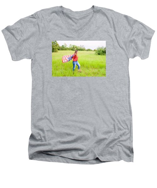 Men's V-Neck T-Shirt featuring the photograph 5640-2 by Teresa Blanton
