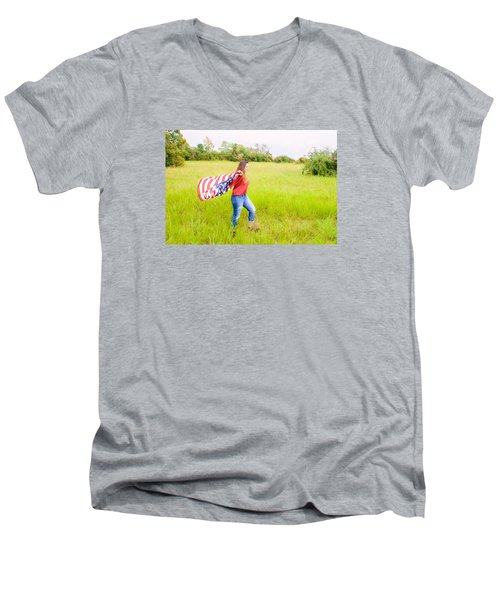 Men's V-Neck T-Shirt featuring the photograph 5640 by Teresa Blanton