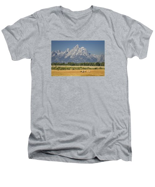 #5687 - Wyoming Men's V-Neck T-Shirt