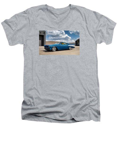 '57 Chevy Custom Men's V-Neck T-Shirt by Douglas Pittman