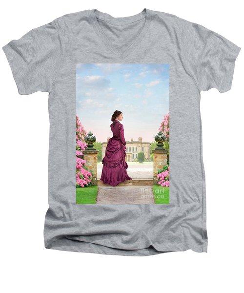Beautiful Victorian Woman Men's V-Neck T-Shirt