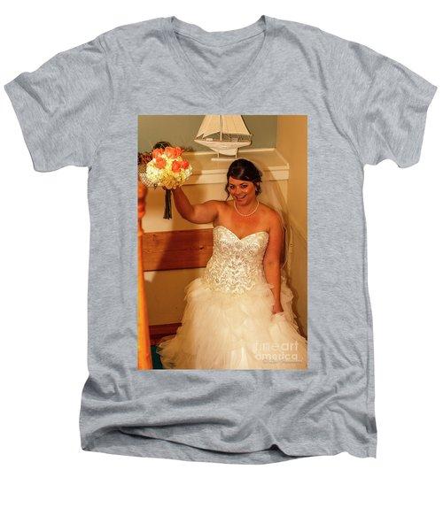 Faulkner Wedding Men's V-Neck T-Shirt