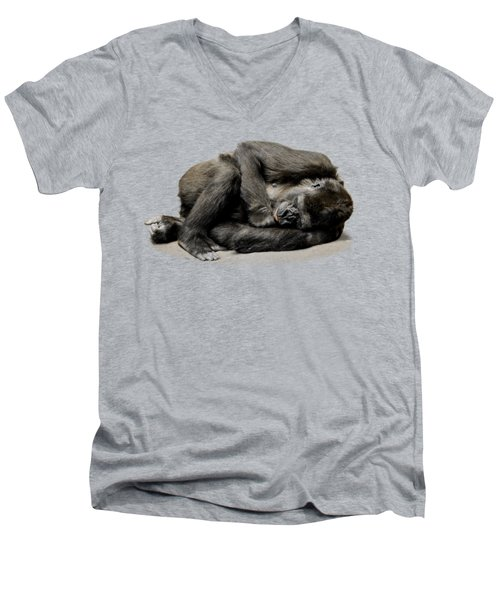 Gorilla Men's V-Neck T-Shirt by FL collection