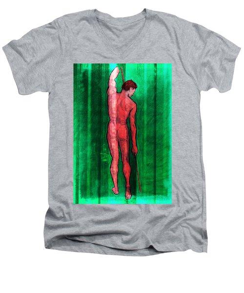 Nude Man Men's V-Neck T-Shirt