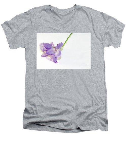Purple Freesia Men's V-Neck T-Shirt