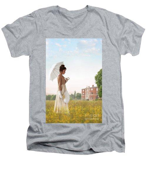 Regency Woman Men's V-Neck T-Shirt