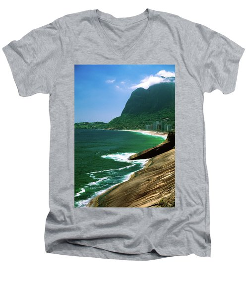 Rio De Janeiro Brazil Men's V-Neck T-Shirt by Utah Images