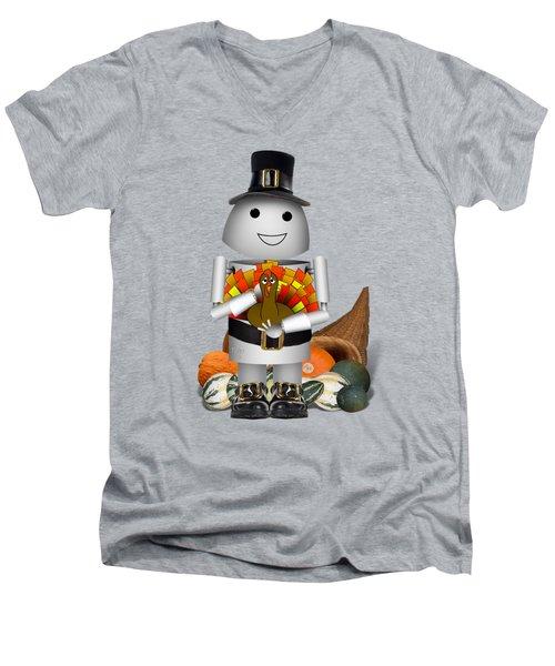 Robo-x9 The Pilgrim Men's V-Neck T-Shirt by Gravityx9 Designs