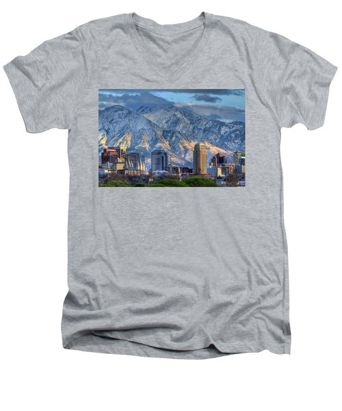 Salt Lake City Utah Usa Men's V-Neck T-Shirt
