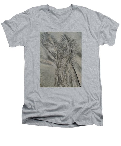 Sand Reels Men's V-Neck T-Shirt by Joe  Palermo