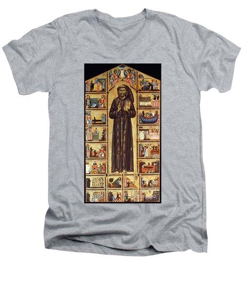 St Francis Of Assisi Men's V-Neck T-Shirt