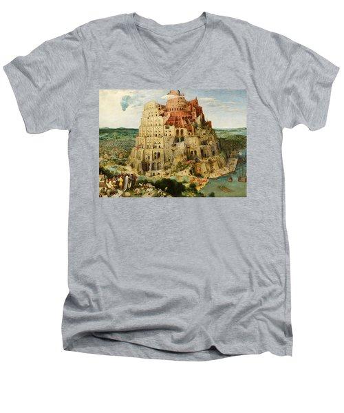 The Tower Of Babel  Men's V-Neck T-Shirt