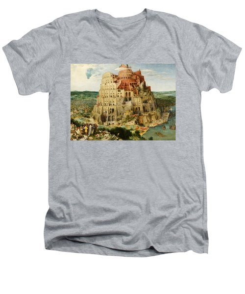 The Tower Of Babel  Men's V-Neck T-Shirt