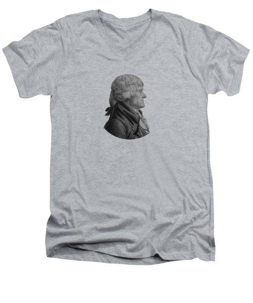 Thomas Jefferson Men's V-Neck T-Shirt
