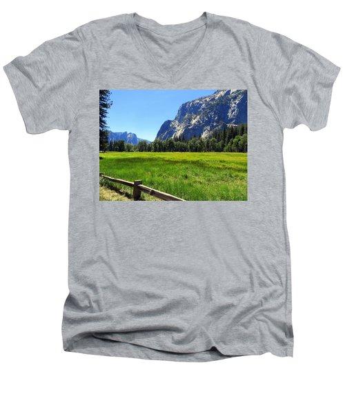 Yosemite Meadow Photograph Men's V-Neck T-Shirt