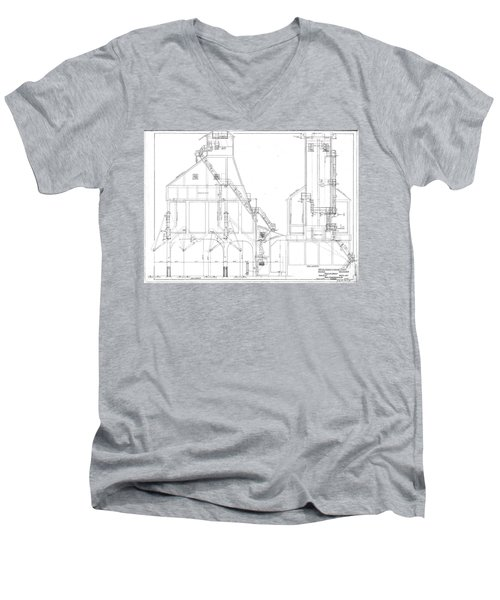 600 Ton Coaling Tower Plans Men's V-Neck T-Shirt