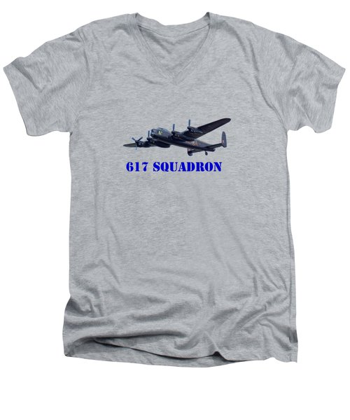 617 Squadron Men's V-Neck T-Shirt by Scott Carruthers