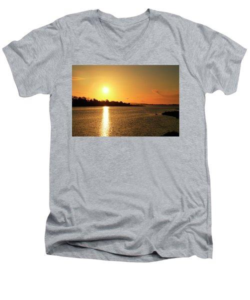 6.25am Men's V-Neck T-Shirt by Martina Fagan