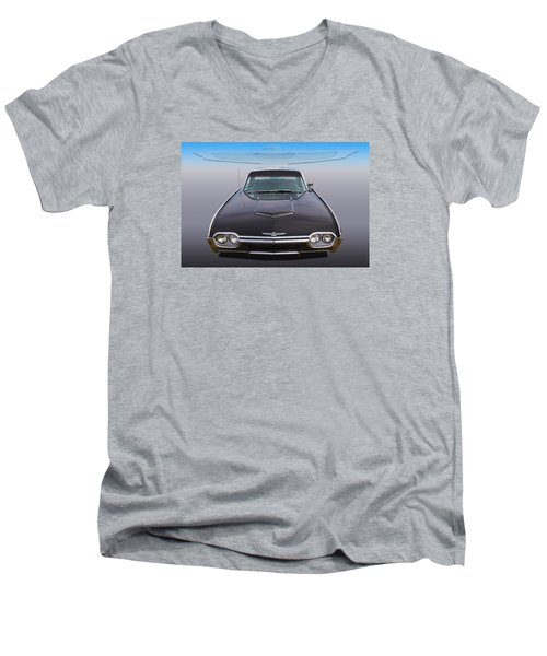 Men's V-Neck T-Shirt featuring the photograph 63 Tbird by Keith Hawley