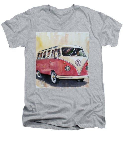'63 V.w. Bus Men's V-Neck T-Shirt