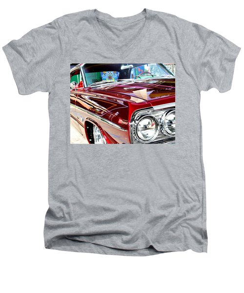 64 Chevy Impala Men's V-Neck T-Shirt
