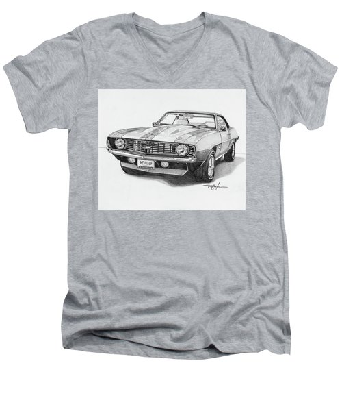 69 Camaro Men's V-Neck T-Shirt