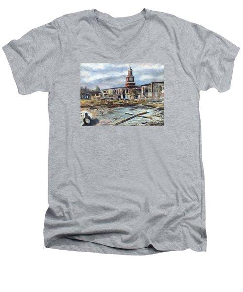 Union University Jackson Tennessee 7 02 P M Men's V-Neck T-Shirt by Randy Burns