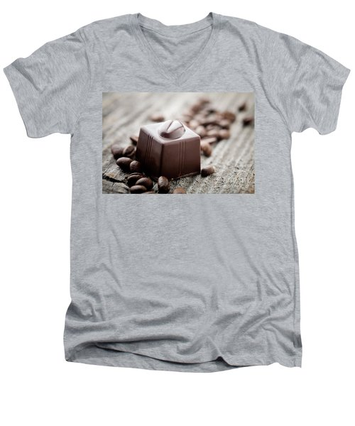 Chocolate Men's V-Neck T-Shirt
