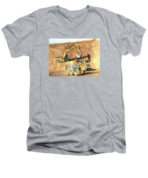 construction whsd Peterburg Men's V-Neck T-Shirt by Yury Bashkin