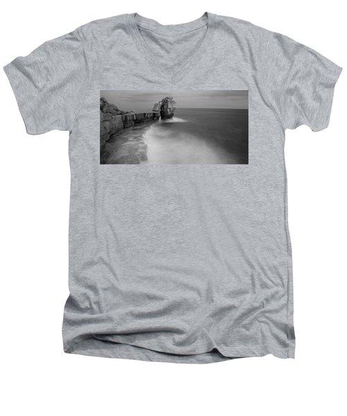 Portland Bill Seascapes Men's V-Neck T-Shirt