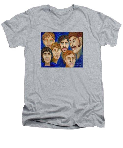 70s Band Reunion Men's V-Neck T-Shirt